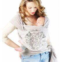 Love Radius Basic rugalmas kendő - tetkós gyöngyházszürke