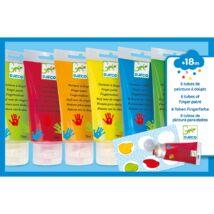 Djeco ujjfesték - hat színű