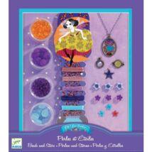 Gyöngyfűző készlet - gyöngyök és csillagok - Djeco