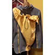 Használt Magyarinda hordozós pulóver - szürke-sárga, L-es méret