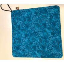 Bora újraszalvéta - kék batikos virágos