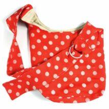 Didymos hordozós táska - piros pöttyös, lenes