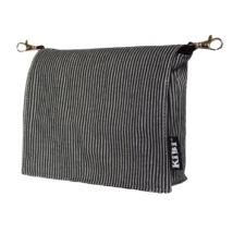 KiBi zsebtáska - fekete-fehér csíkos