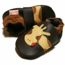 Liliputi puhatalpú kiscipő - Barna zsiráfos