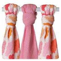XKKO bambuszos textil (tetra) pelenka - lányos-felhős, 3 db