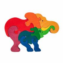 Fauna fajáték - Elefántcsalád