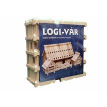 LOGI-VÁR fajáték, 1 készlet (86 db elem)