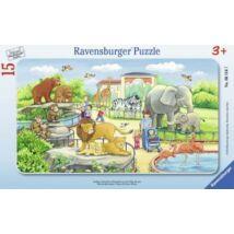 Kalandok az állatkertben kirakó (15 darabos puzzle)