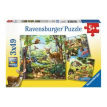 3 darab állatos kirakó egyben! - Állatok (49 darabos puzzle)