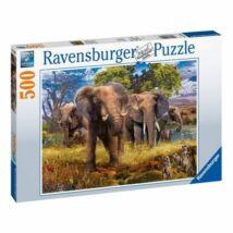 Elefántcsalád (500 darabos puzzle)