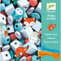 Fűzhető fagyöngyök erdei állatokkal - Djeco