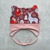 Symbyo téli bélelt sapka - szarvas, 46-48 cm