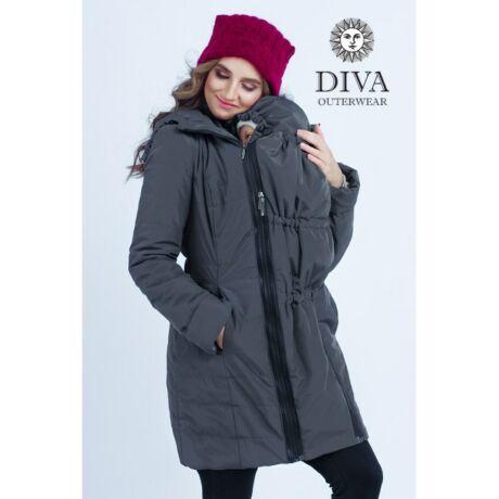 Diva Milano babahordozó kabát -25 fokig - grafitszürke, XL méret