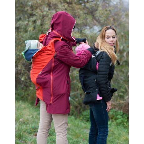 MAGYARINDA® - hordozós kabát - Vörösbegy: bordó, narancs