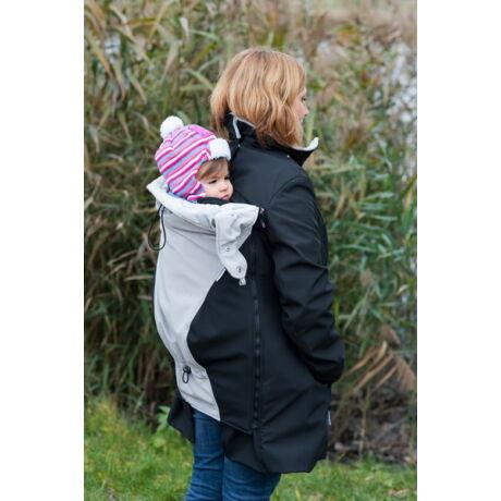 MAGYARINDA® - hordozós kabát - Csóka: fekete, szürke
