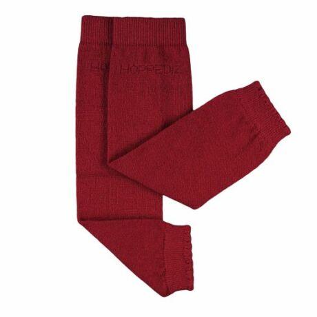 Hoppediz gyapjús lábszármelegítő - piros