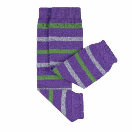 Hoppediz gyapjús lábszármelegítő - lila-szürke-zöld
