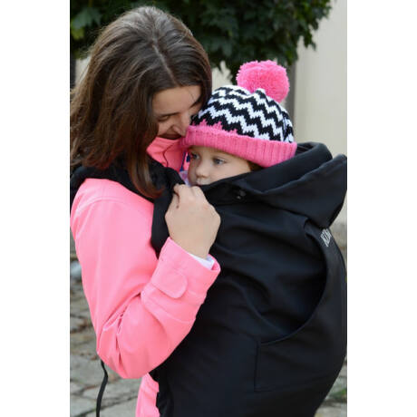 KiBi hordozós takaró - softshell, fekete