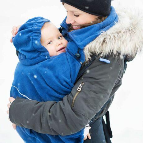 Hoppediz polár hordozós takaró - kék