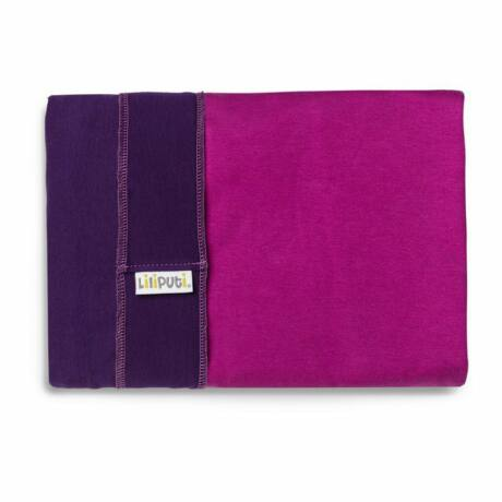 Liliputi rugalmas kendő - lila fukszia zsebbel