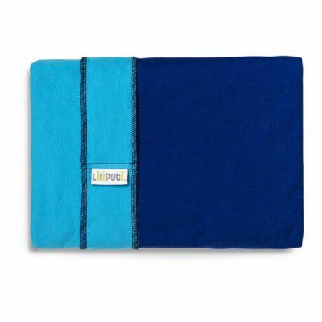 Liliputi rugalmas kendő - türkiz, kék zsebbel