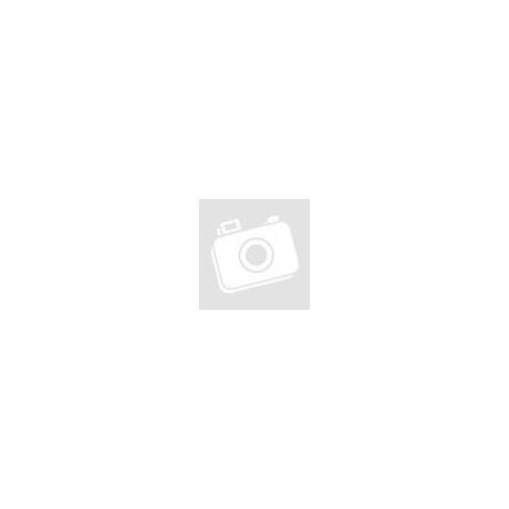 Használt Zara karikás kendő - ezüstszürke, piros karikákkal