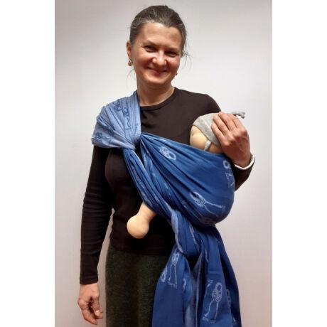 Használt Didymos hordozókendő - Kék Nino, 370 cm