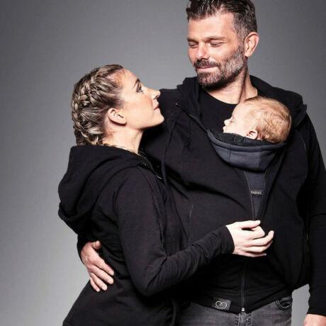 Love Radius pulóver anyának és apának – fekete, XL