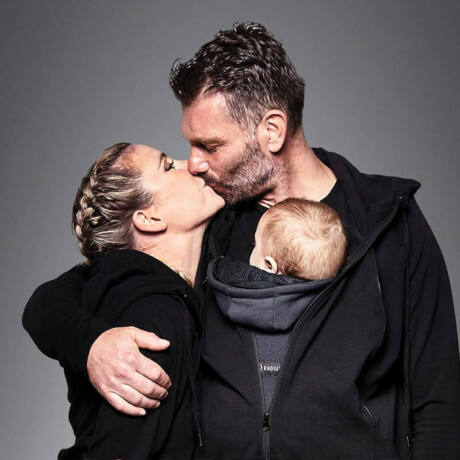 Love Radius pulóver anyának és apának – fekete, XXL