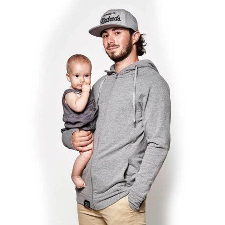 Love Radius pulóver anyának és apának – szürke, XXL