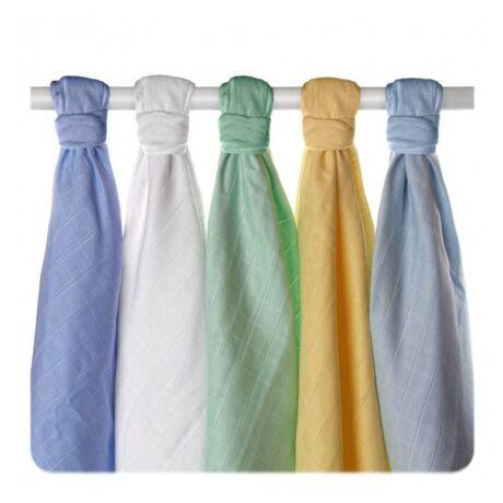 XKKO biopamut textil (tetra) pelenka - fiús színek, 5 db